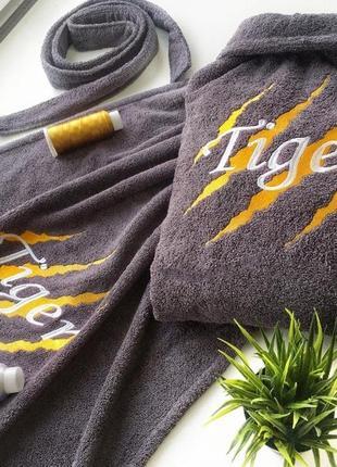 Именной халат с индивидуальной вышивкой ( ткань - турция)