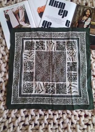 Маленький шелковый платок 100%шелк