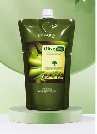 Ухаживающая маска для волос с экстрактом оливок bioaqua olive extract hair film