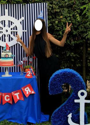 Длинное синее платье, платье, макси, синее