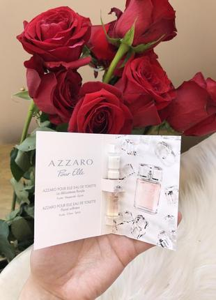 Azzaro pour elle 1,5 ml французская туалетная вода цветочная азаро