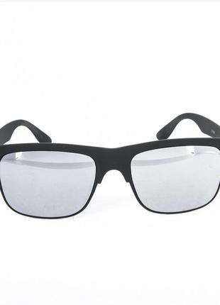 Солнцезащитные очки унисекс - черные зеркальные
