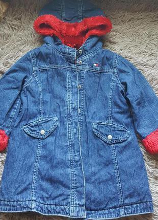 Фирменная,джинсовая,оригинальная курточка tommy hilfiger