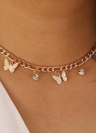 Цепочка с бабочками