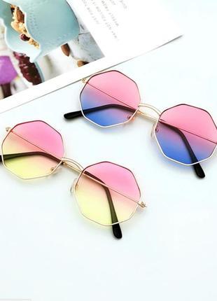 Очки с линзами градиент имиджевые . стильні окуляри1 фото