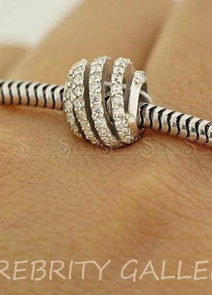 Серебряный шарм бусина для браслета в стиле пандора i 562232 rd w серебро 925