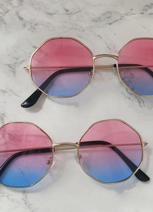 Очки с линзами градиент имиджевые . стильні окуляри5 фото