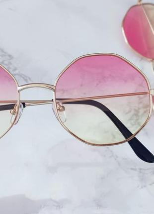 Очки с линзами градиент имиджевые . стильні окуляри2 фото