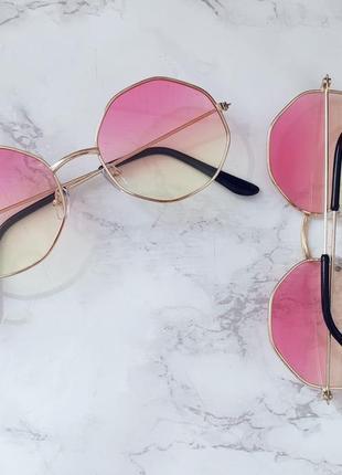 Очки с линзами градиент имиджевые . стильні окуляри3 фото