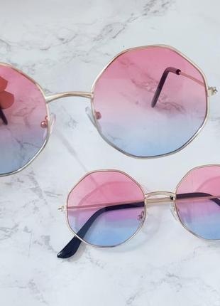 Очки с линзами градиент имиджевые . стильні окуляри7 фото
