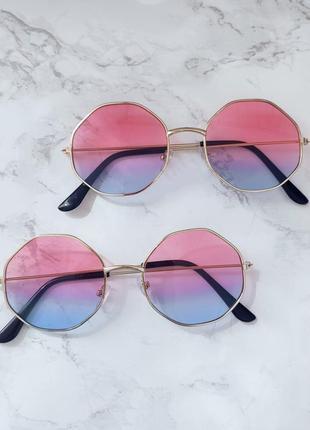 Очки с линзами градиент имиджевые . стильні окуляри4 фото