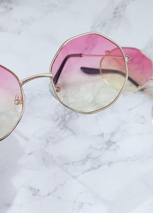 Очки с линзами градиент имиджевые . стильні окуляри6 фото