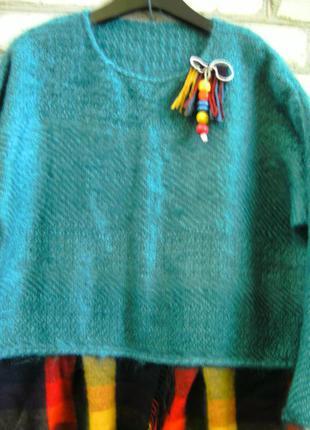 Мохеровый свитер в стиле бохо.