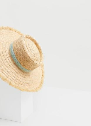 Летняя шляпа mango солома mng соломенная панама sunrise