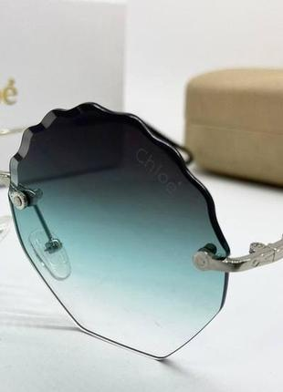 Chloe очки женские солнцезащитные бирюзовые льдинки с градиентом
