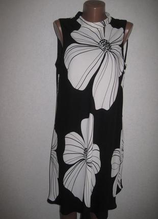 Свободное шифоновое платье f&f р-р16