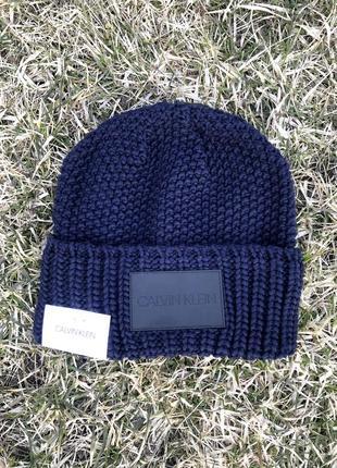 Новая зимняя шапка calvin klein
