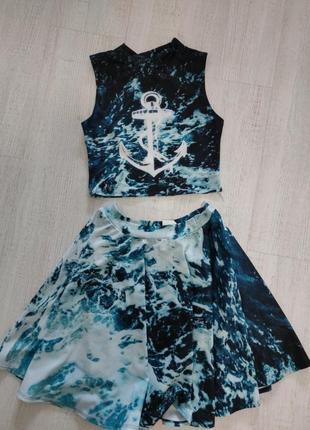 Комплект юбка и топ украинского бренда