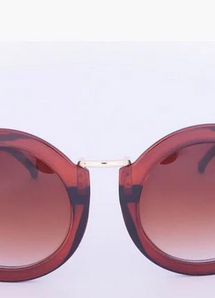 Оригинальные круглые солнцезащитные очки - коричневые