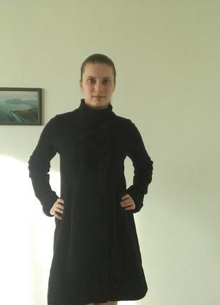 Теплое шерстяное пальто zara