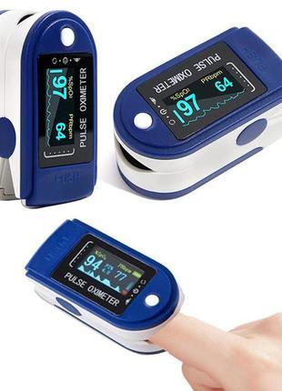 Пульсоксиметр finger pulse oximeter пульсометр