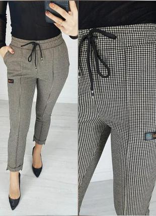💣гусиная лапка модные брюки в гусиную лапку/штаны/со стрелками/sport chic/укороченые