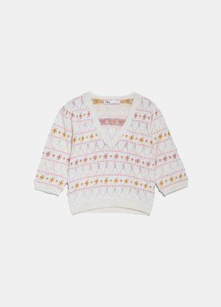 Милый укороченный свитерок zara