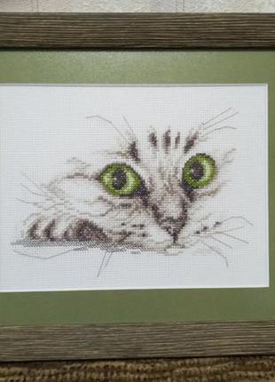 """Вышитая картина """"котик"""""""
