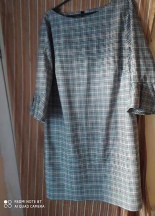 Hm стильное элегантное платье р.52-54 пог 56см