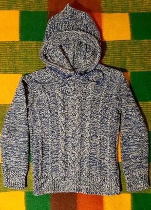 Новый вязаный свитер на подростка