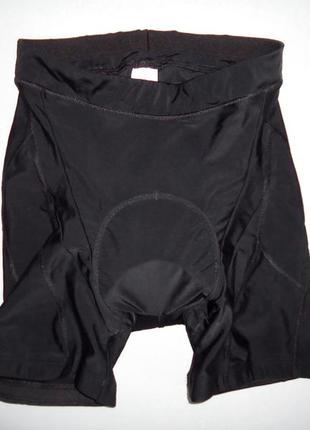Велошорты btwin bike с памперсом черные (l)