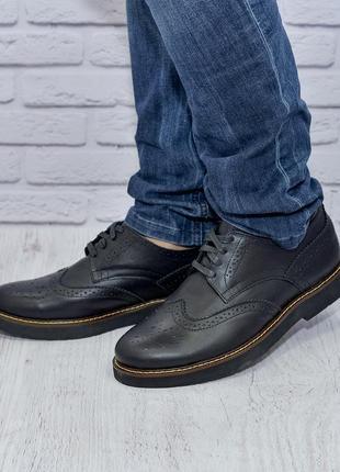 Туфли броги из натуральной кожи от производителя flamanti, шкіряні туфлі від виробника
