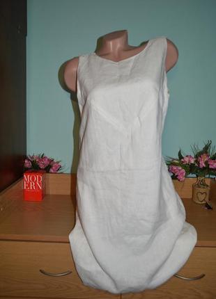 Льляное платье р. 50