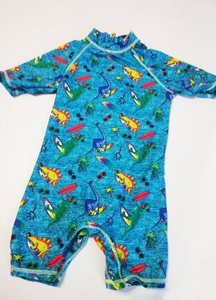 Новый фирменный купальный костюм с динозаврами f&f, плавки + футболка на мальчика 5-6 лет