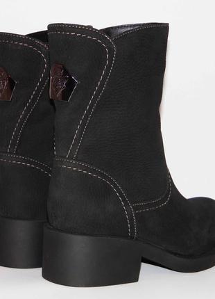 Ботинки, зимние, натуральный нубук, черного цвета, 36-40р.