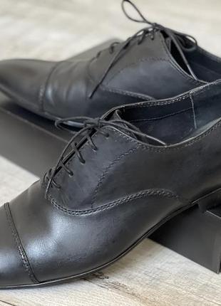 Обувь туфли мужские zara чёрные