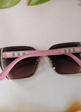 Эксклюзивные солнцезащитные розовые женские очки с поляризацией
