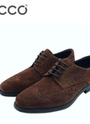 Кожаные туфли оксфорды экко ecco melbourne оригинал р.45 новые словакия