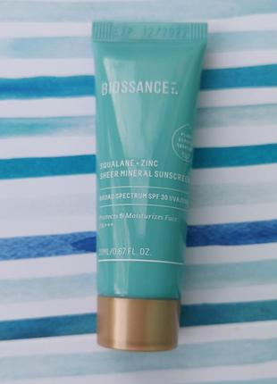 Солнцезащитный крем для лица biossance