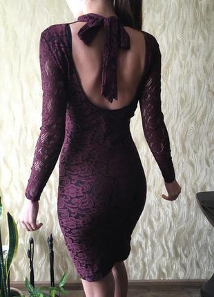 Платье кружевное миди размер xs