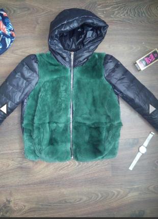 Очень модная куртка с мехом