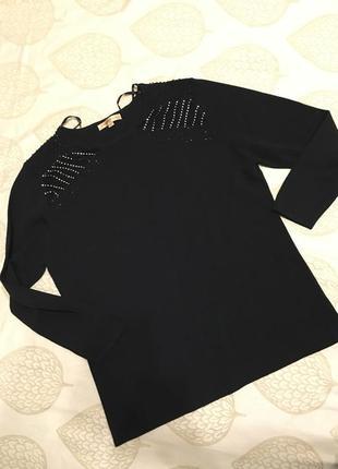 Черный свитер, джемпер л-хл