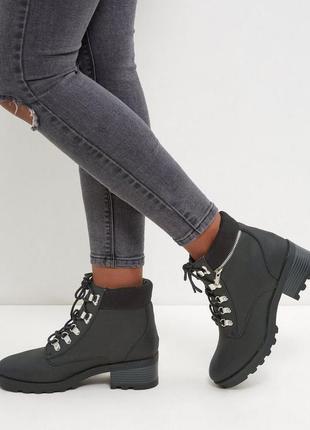 Ботинки черные демисезонные новые new look