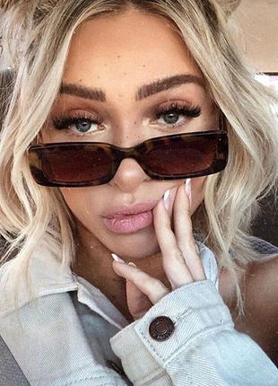 Трендовые винтажные солнцезащитные очки, цвет леопард