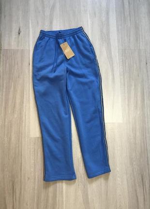 Нові спортивні штани брюки спортивки з лампасами на флісі / штаны высокая посадка