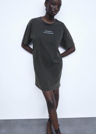 Новое платье zara с эффектом потёртости zara