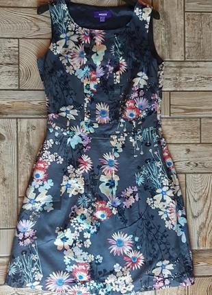 Красивое хлопковое платье в цветы