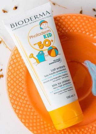 Bioderma photoderm kids солнцезащитное молочко для детей биодерма