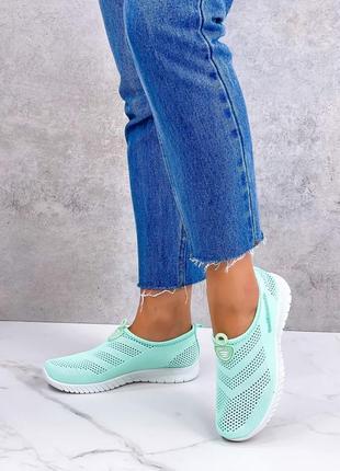 Текстильные кроссовки сетка