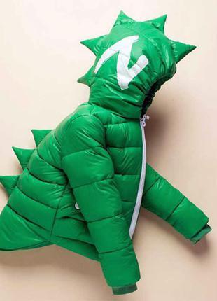 ㋛ динозавр - куртка на утином пуху  + перчатки в подарок